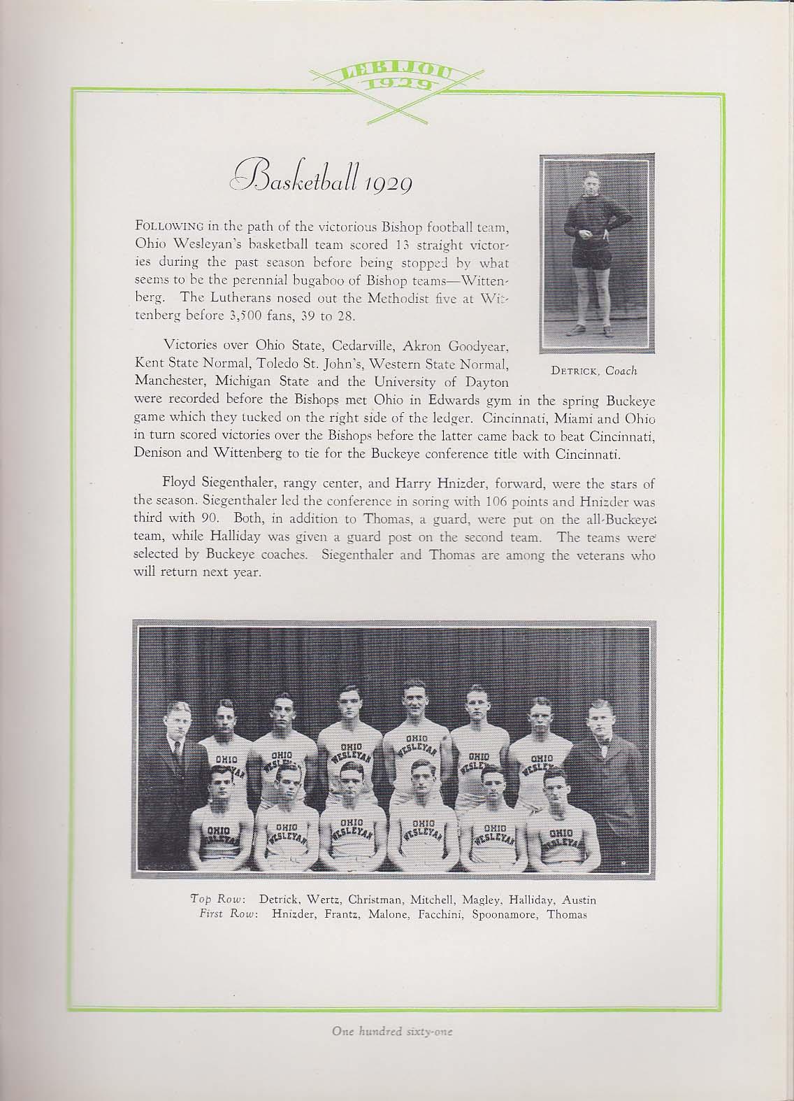 Image for Le Bijou 1929 Yearbook Ohio Wesleyan University Delaware OH