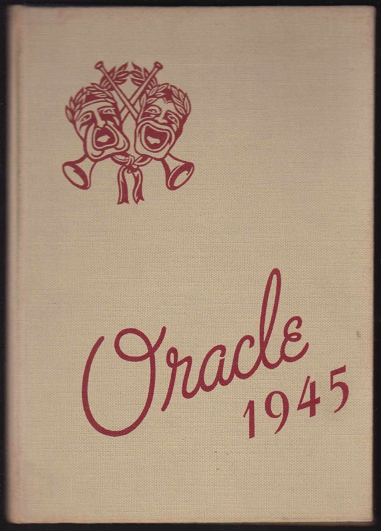 Image for Oracle 1945 Yearbook Edward Little High School Auburn Maine ME
