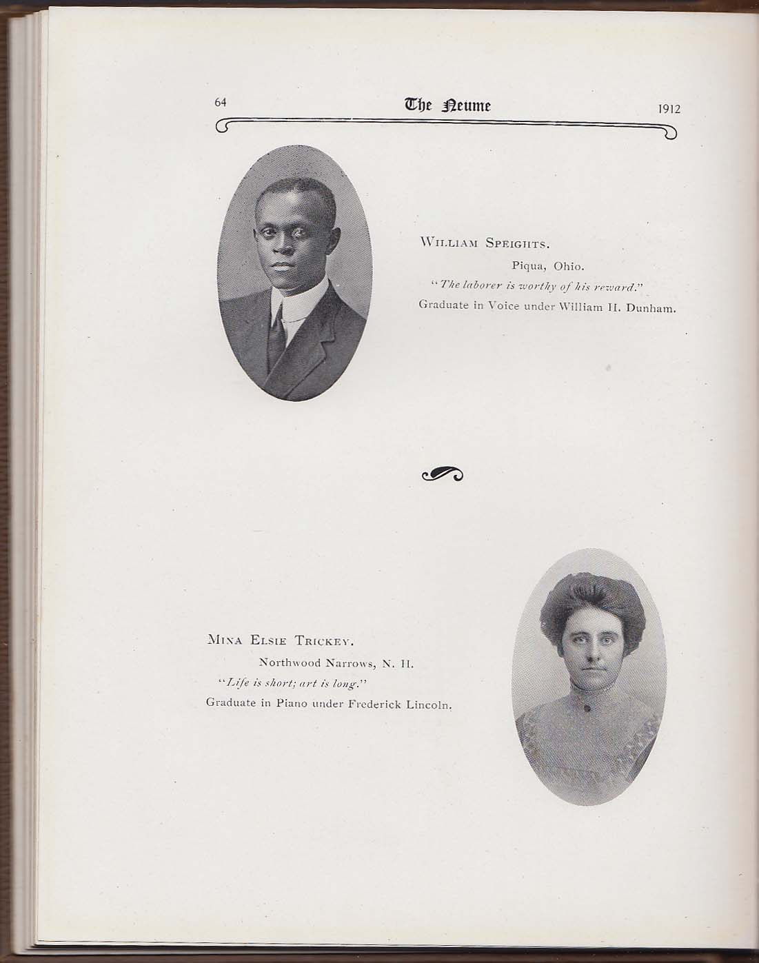 Image for The Neume 1912 Yearbook New England Conservatory of Music Boston Massachusetts