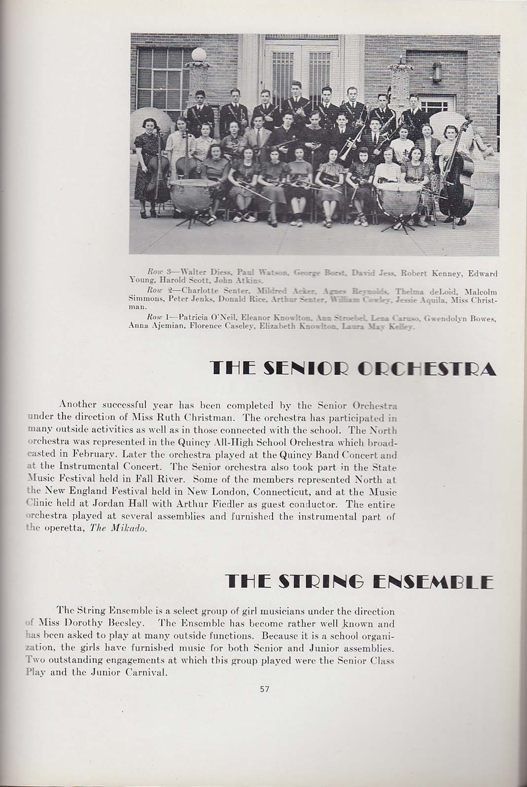 Image for Manet 1938 Yearbook North Quincy High School North Quincy Massachusetts MA