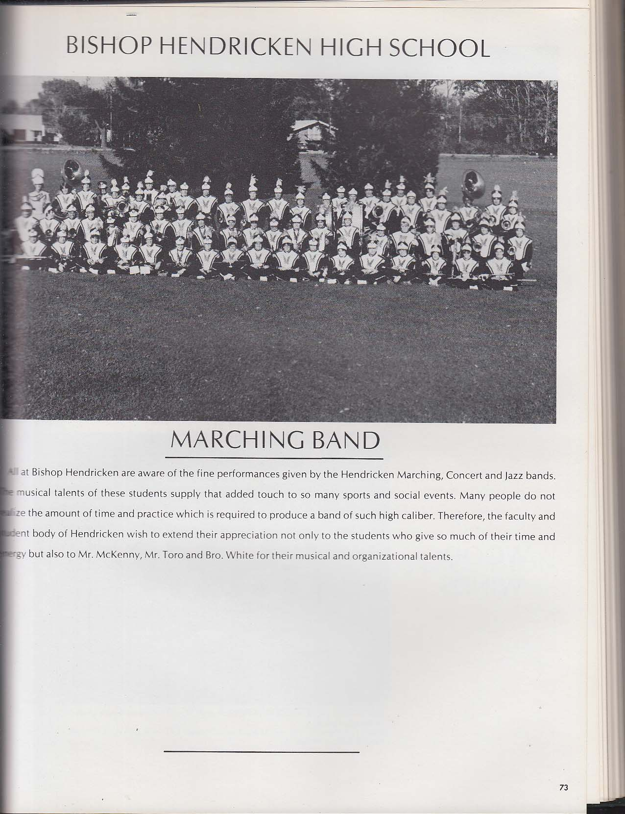 Mitre 1979 Yearbook Bishop Hendricken High School Warwick Rhode Island