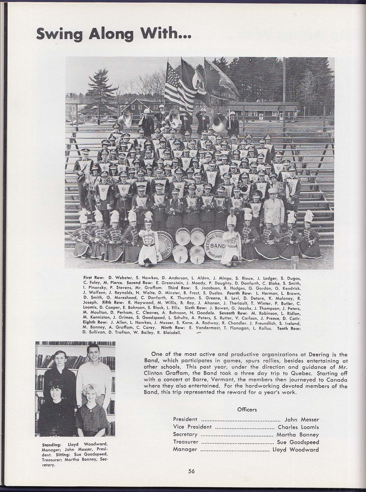 Amethyst 1964 Yearbook Deering High School Portland Maine