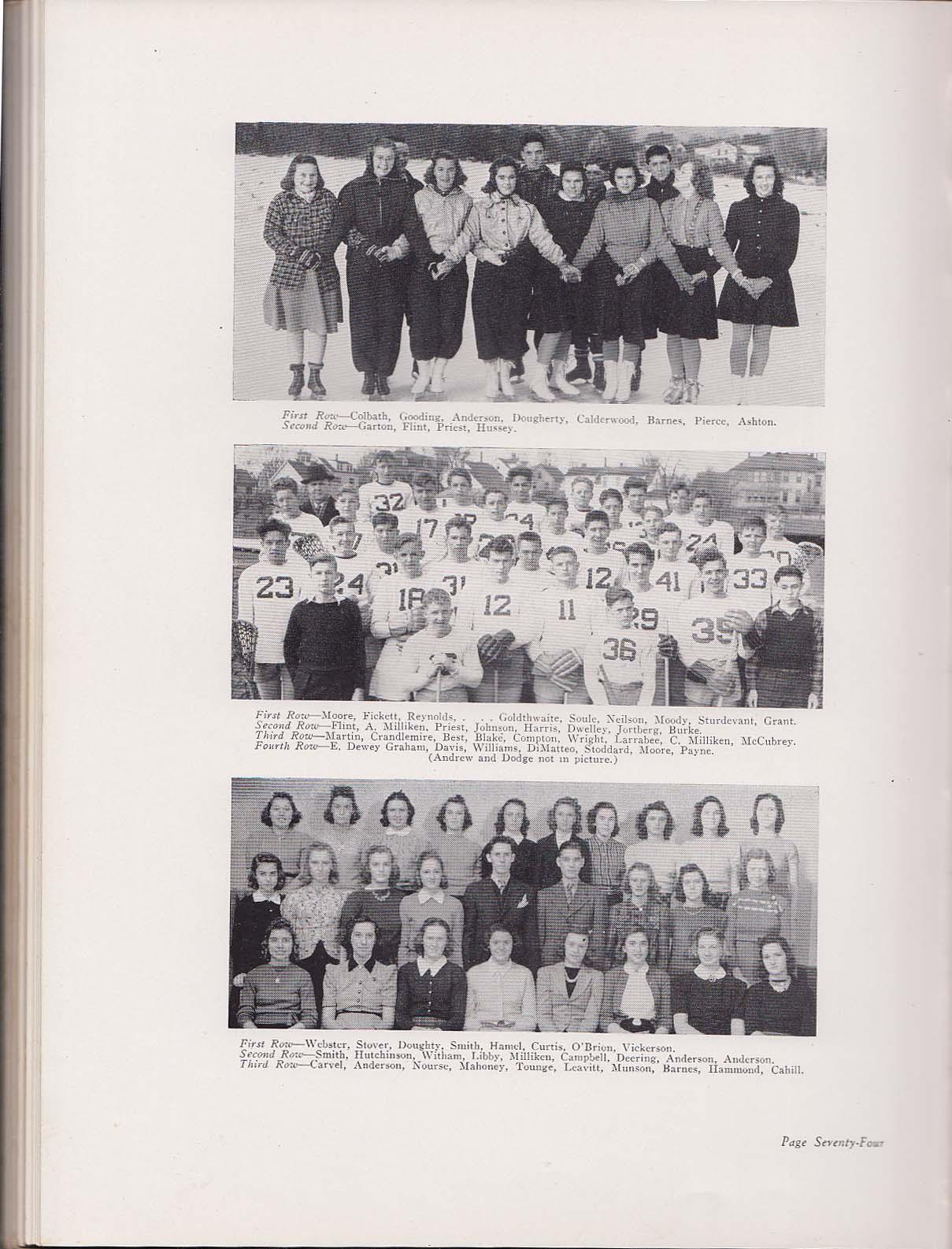 Amethyst 1940 Yearbook Deering High School Portland Maine