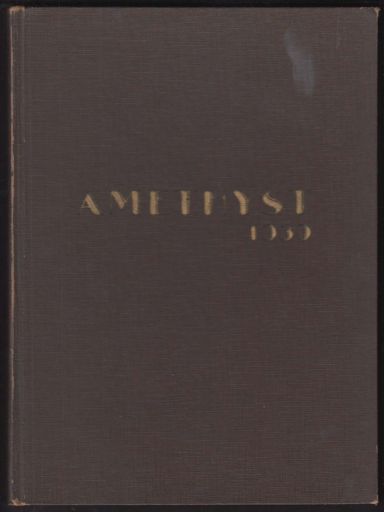 Amethyst 1939 Yearbook Deering High School Portland Maine