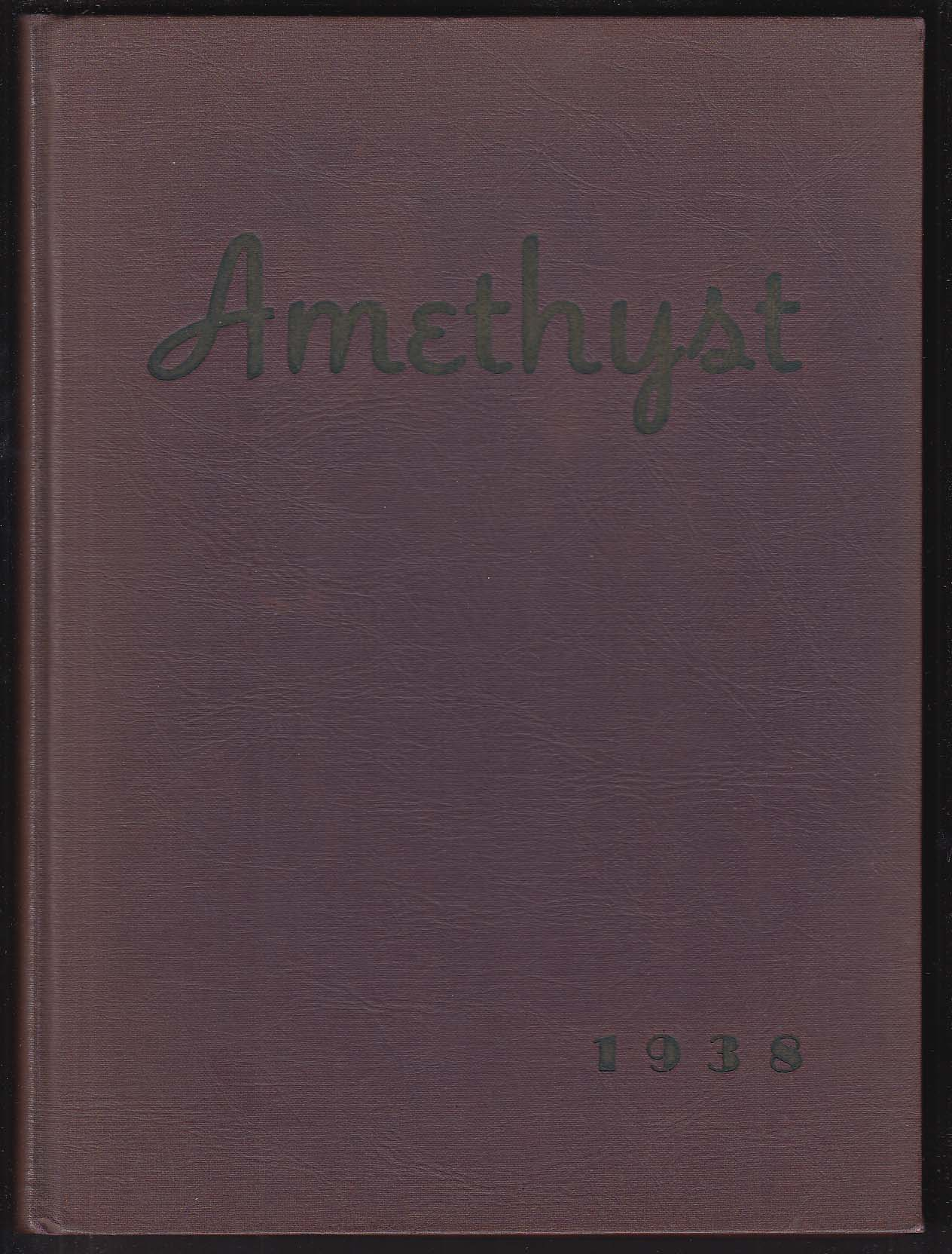 Amethyst 1938 Yearbook Deering High School Portland Maine