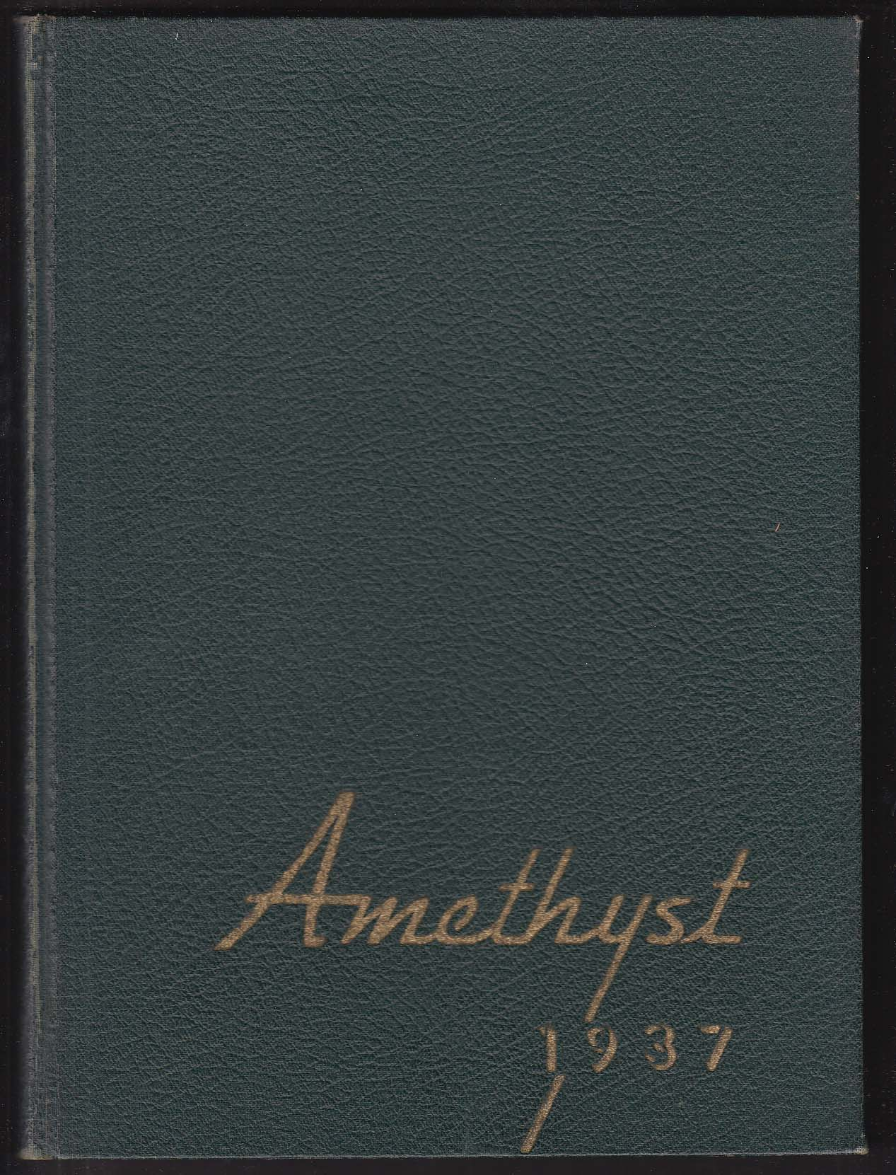 Amethyst 1937 Yearbook Deering High School Portland Maine
