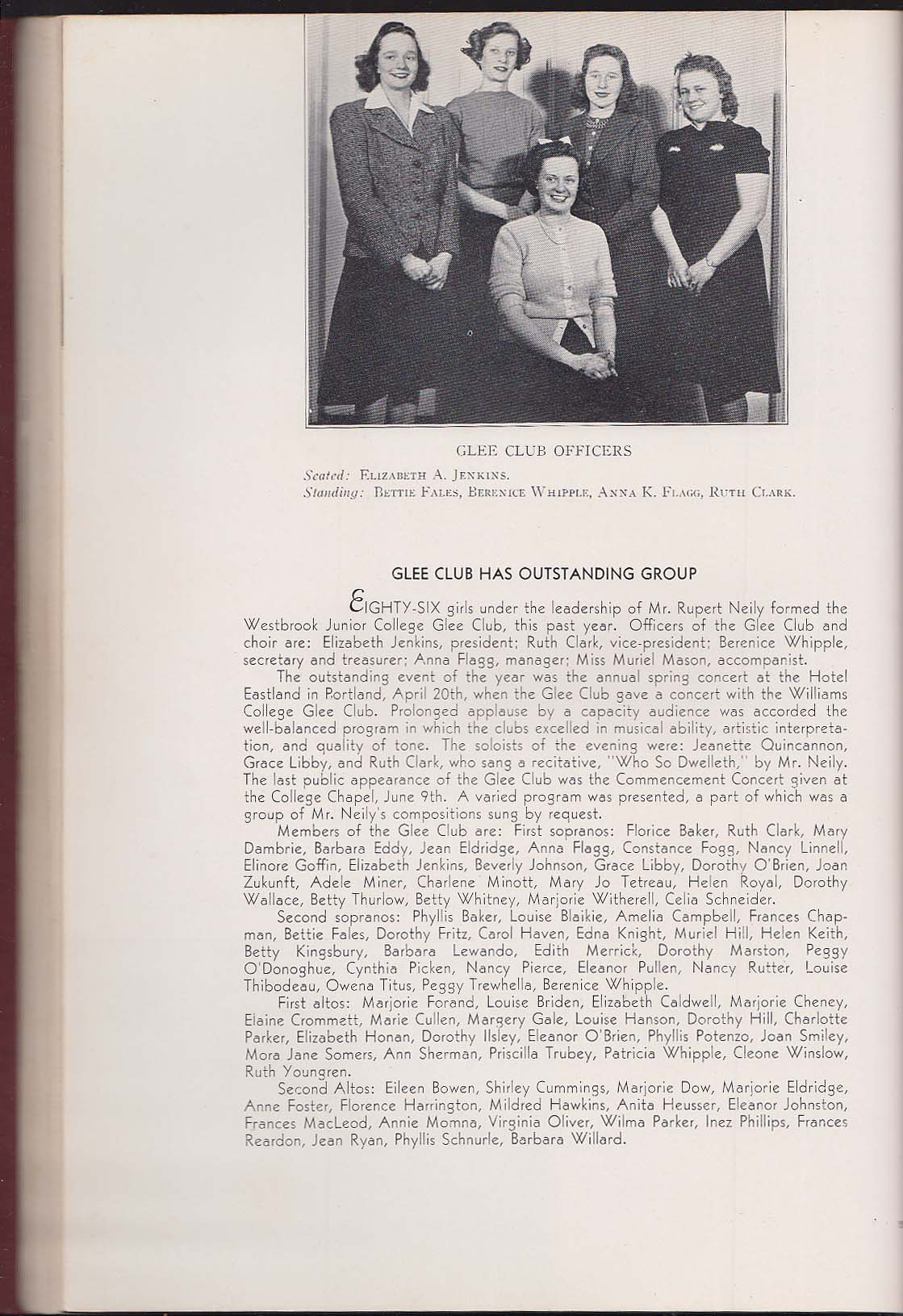 Image for The Tower 1940 Yearbook Westbrook Junior College Portland Maine