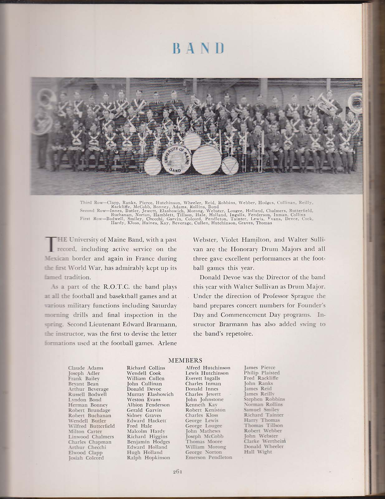 The Prism 1942 Yearbook University of Maine