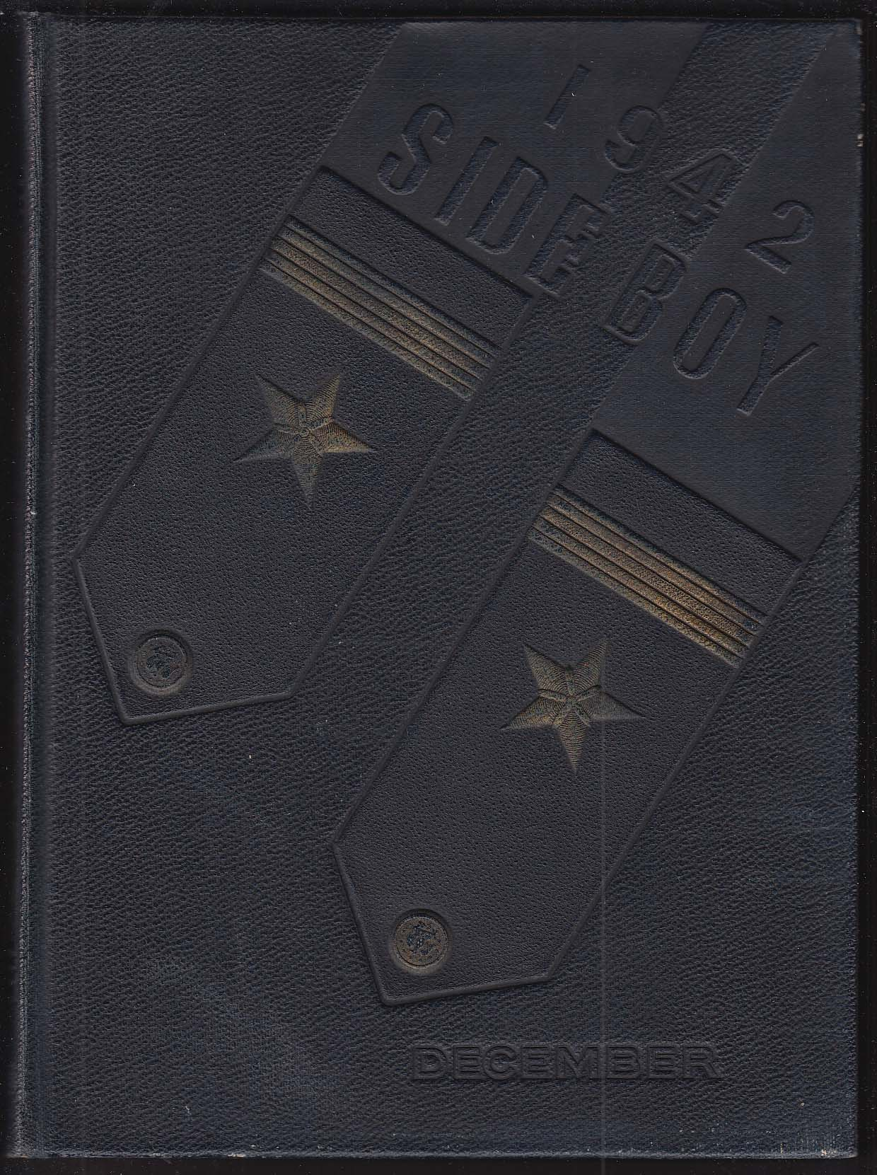 1942 Side Boy US Naval Reserve Midshipmen's School Yearbook New York NY