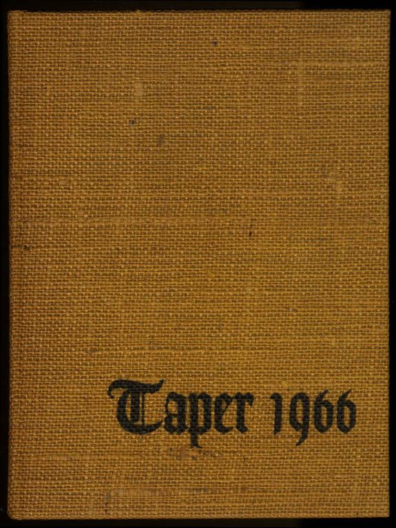 Taper 1966 Yearbook American International College Springfield Massachusetts