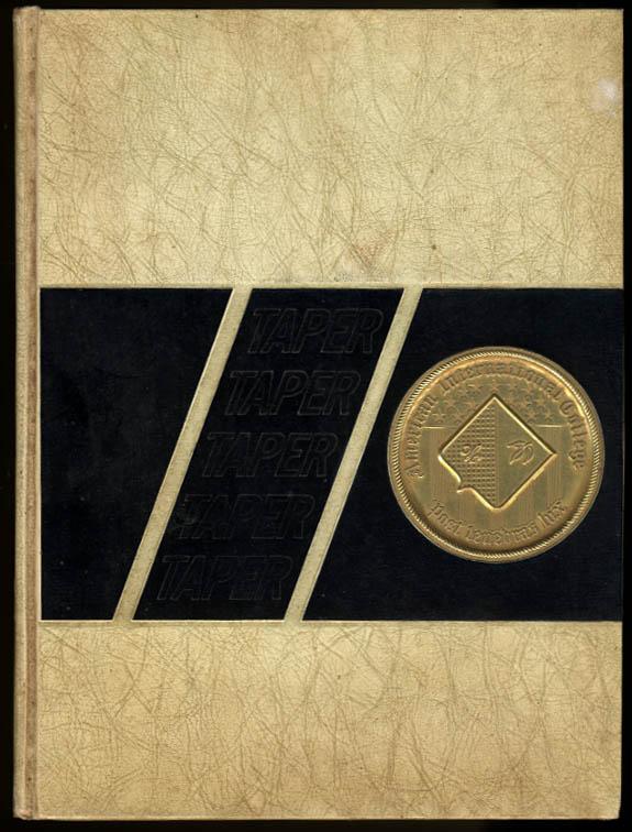 Taper 1968 Yearbook American International College Springfield Massachusetts