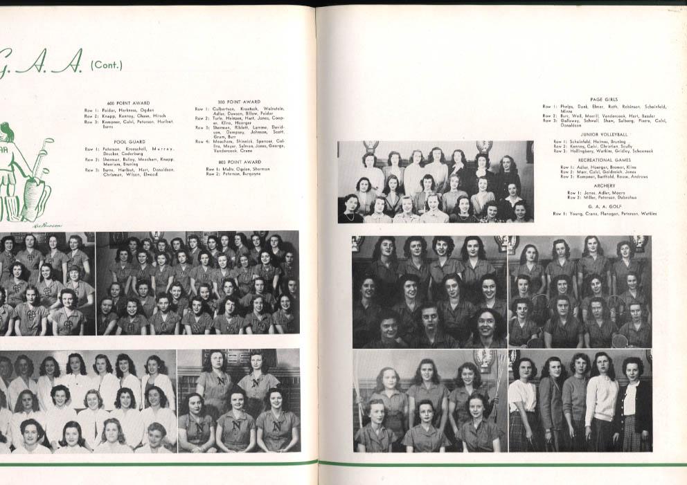 Echoes 1946 Yearbook New Trier High School Winnetka Illinois