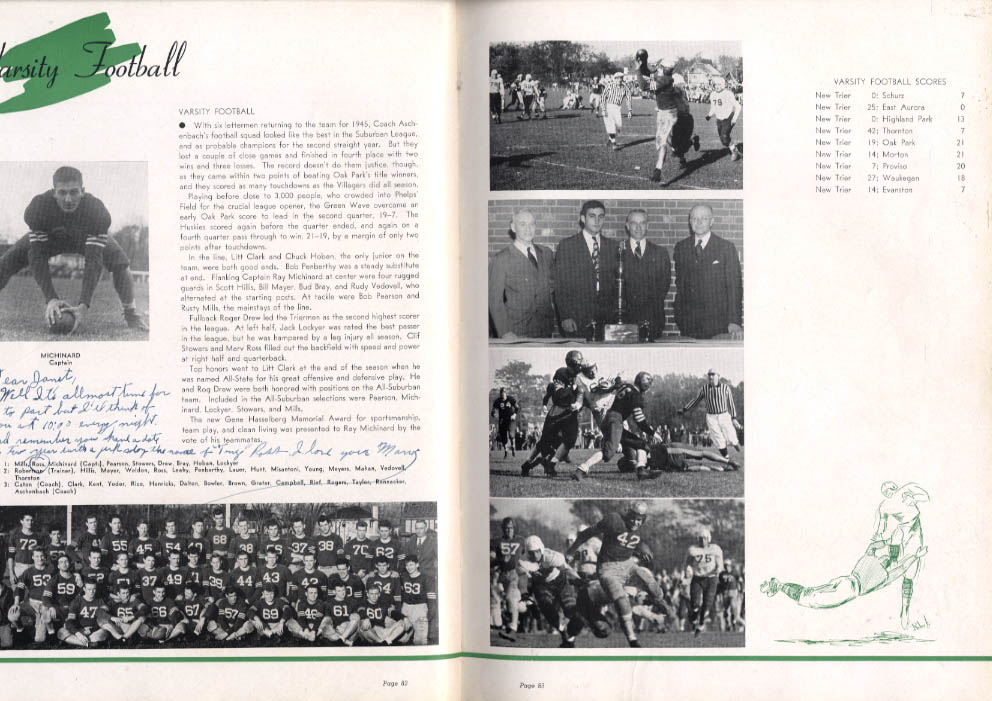 Echoes 1946 Yearbook New Trier High School Winnetka Illinois