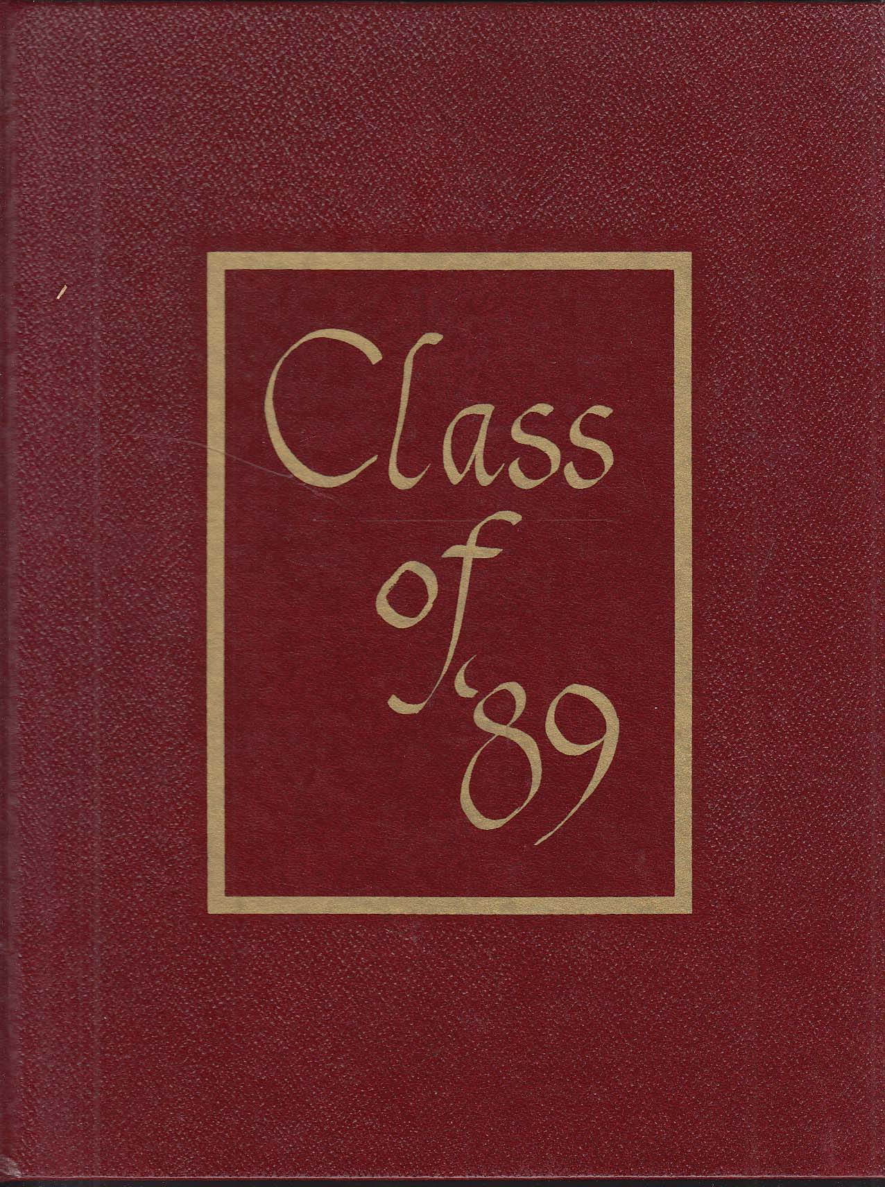 Canticle 1989 Yearbook South Catholic High School Hartford Connecticut