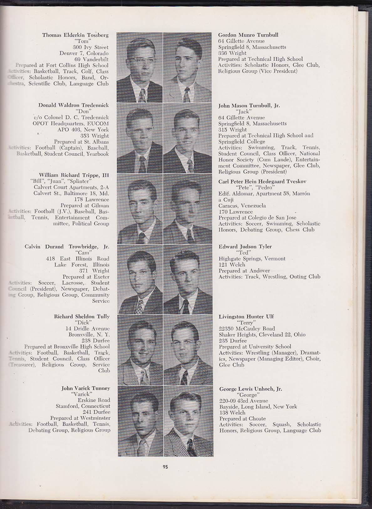 The Old Campus Class of 1956 Yale University James Jeffords John Tunney