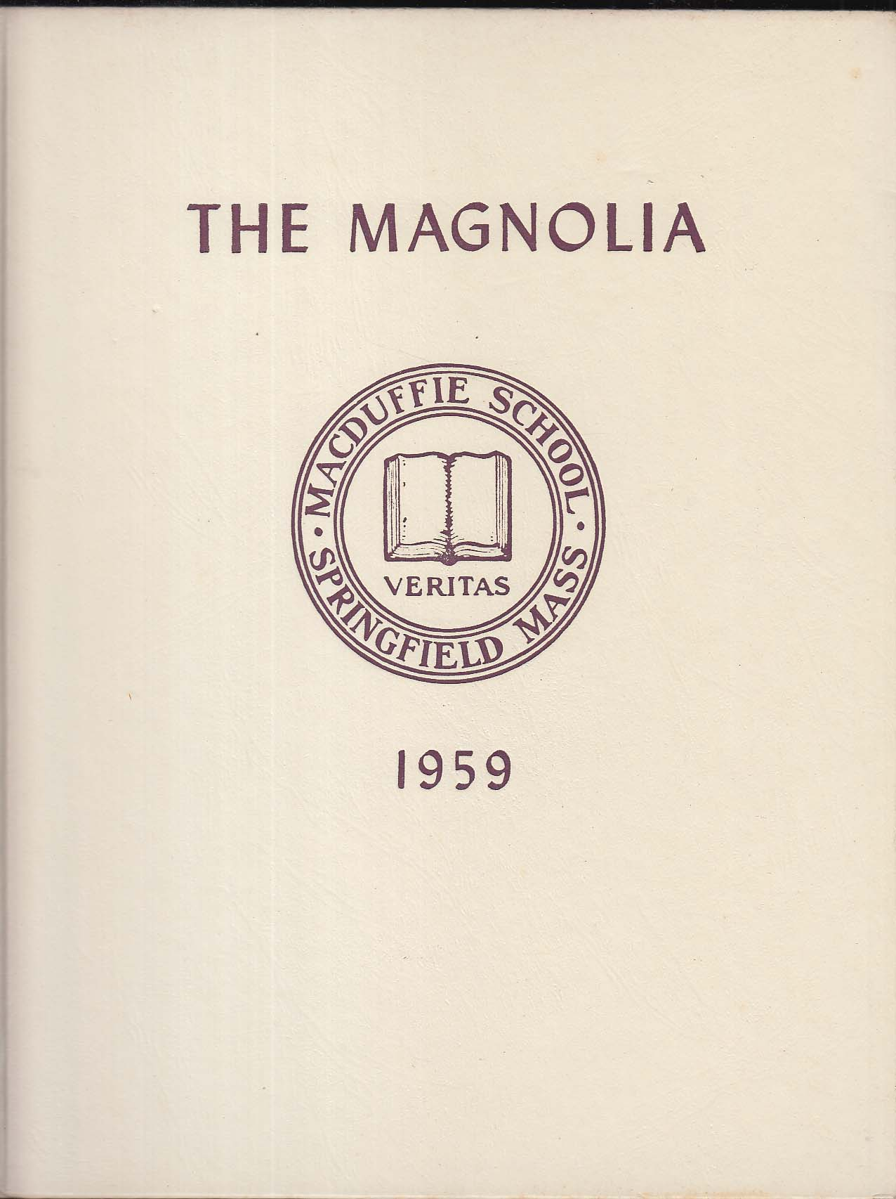 Image for The Magnolia MacDuffie School 1959 Yearbook Springfield Massachusetts