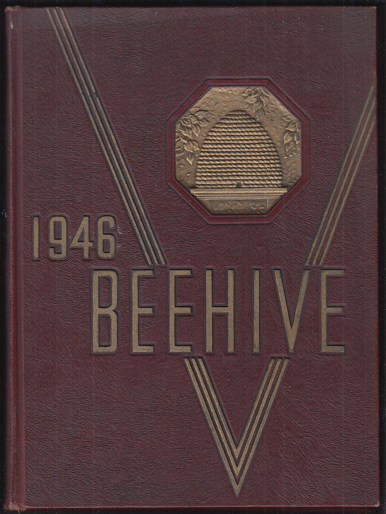 1946 Beehive Yearbook New Britain Senior High School New Britain Connecticut