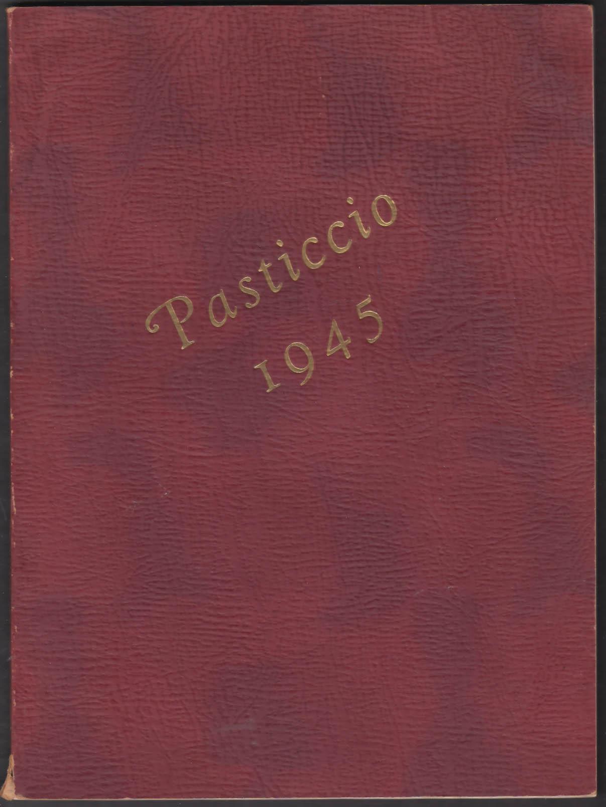 Image for Clark University Pasticcio 1945 Yearbook Worcester Massachusetts