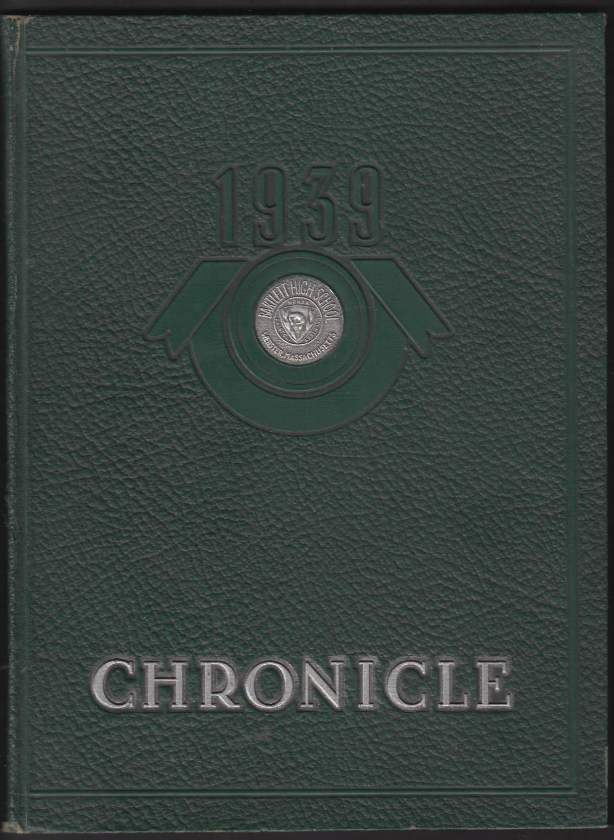 Image for Bartlett High School Chronicle 1939 Yearbook Webster Massachusetts