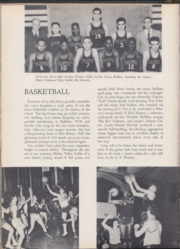 Weaver High School PORTAL Hartford CT yearbook 1951