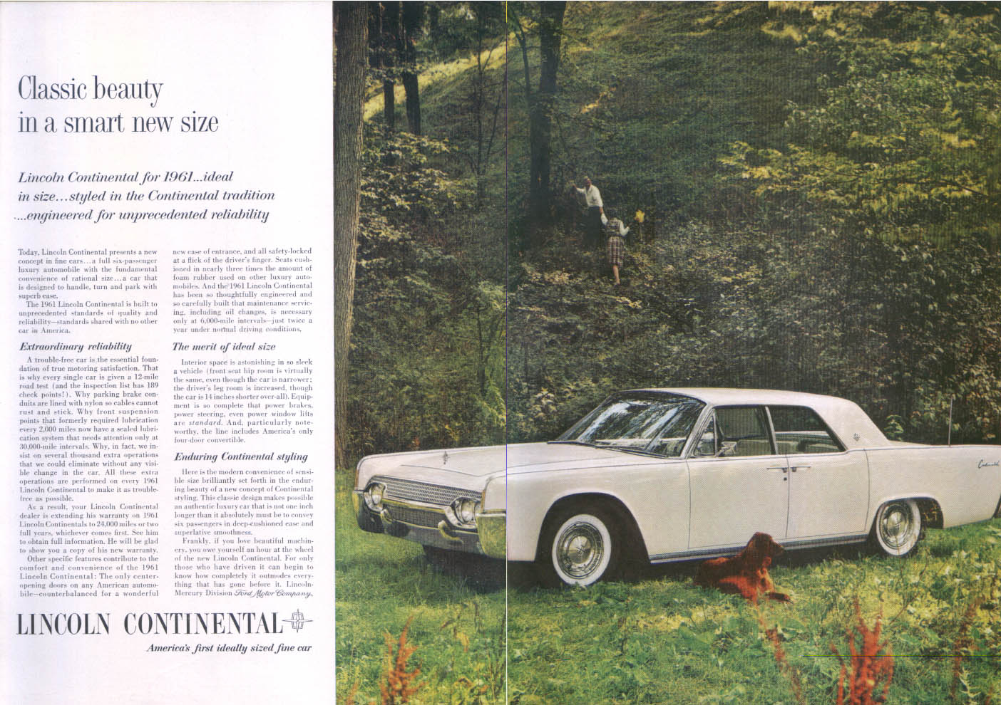Ads Lincoln 1954 Continental Interior Classic Beauty Smart Size Ad 1961 New Yorker