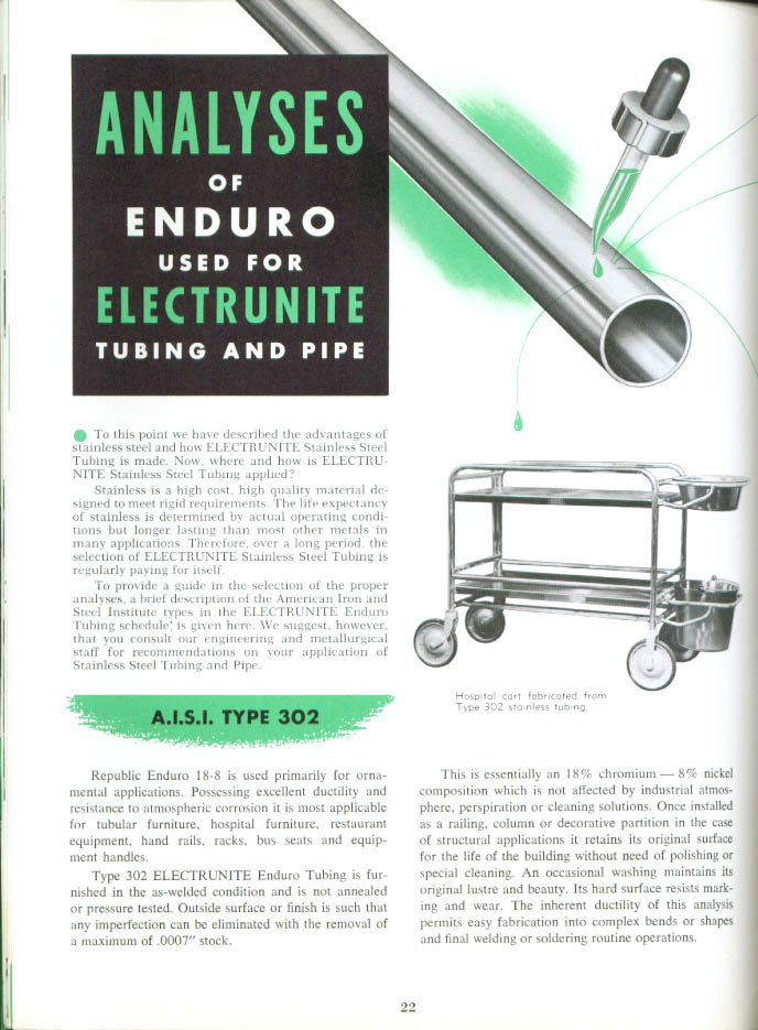 Republic Electrunite Stainless Steel Tubing ctlg 1961