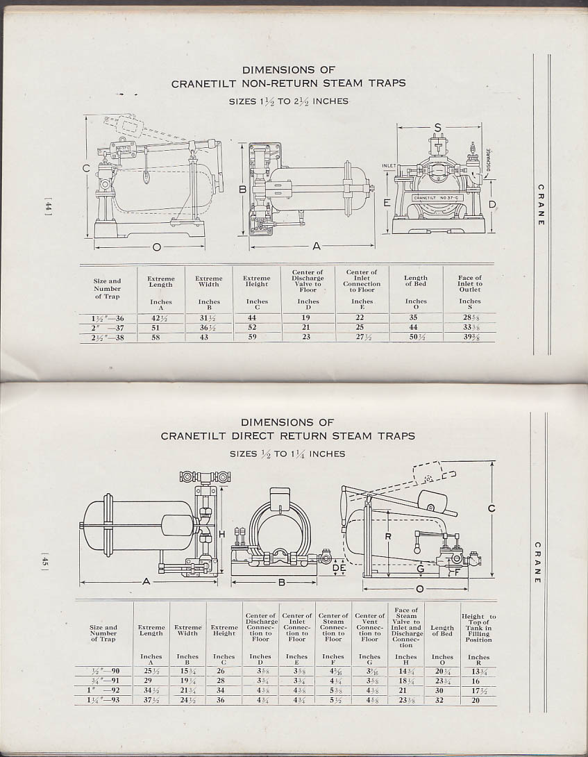 Handling Condensation With Crane Cranetilt Traps Manual Catalog 1928 Schematic