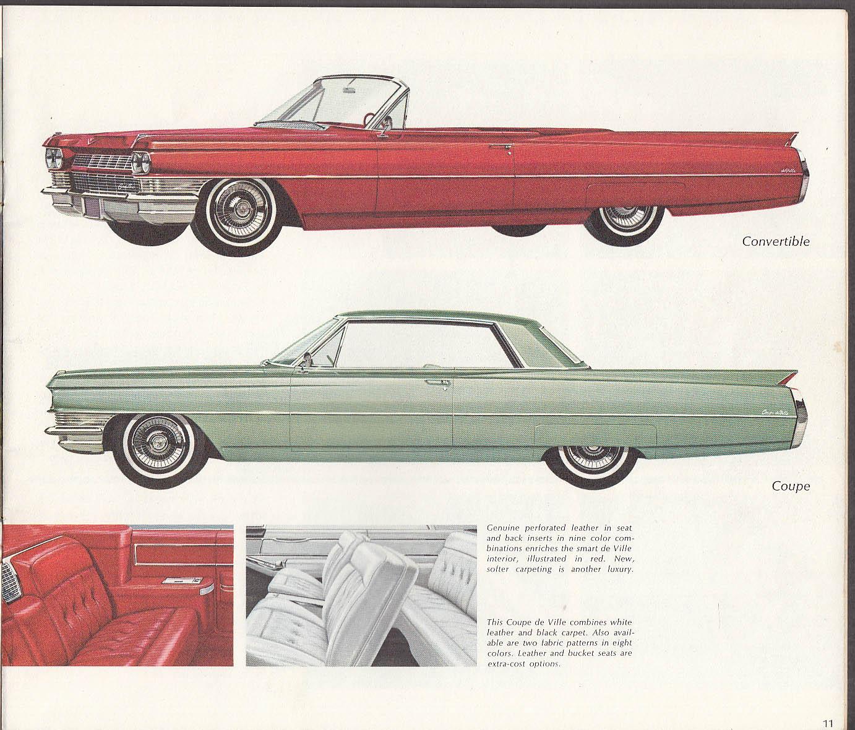 1964 Cadillac sales brochure Sixty-Two De Ville Fleetwood ...