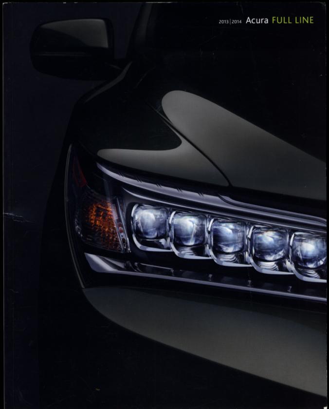 2013 2014 Acura Full-line Sales Brochure RLX TL TSX ILX