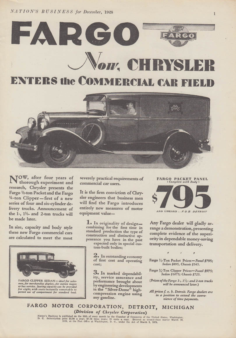 The Jumping Frog Rare Used And Out Of Print Books Magazines 1954 Chrysler New Yorker Deluxe Newport Enters Commercal Car Field Fargo Packet Panel Truck Ad 1928
