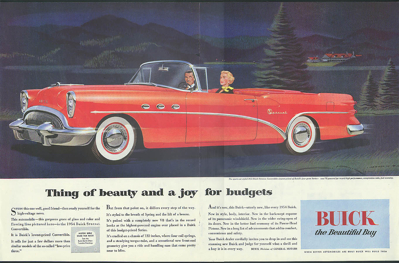 Ads Buick 1954 Riviera Convertible Thing Of Beauty And A Joy For Budgets Special Ad