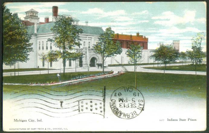 Indiana State Prison Michigan City In Postcard 1907 Ebay